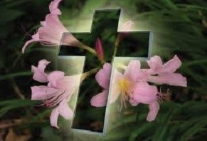 easter lilies cross (1)