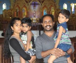 Subin Raj Nissy Family